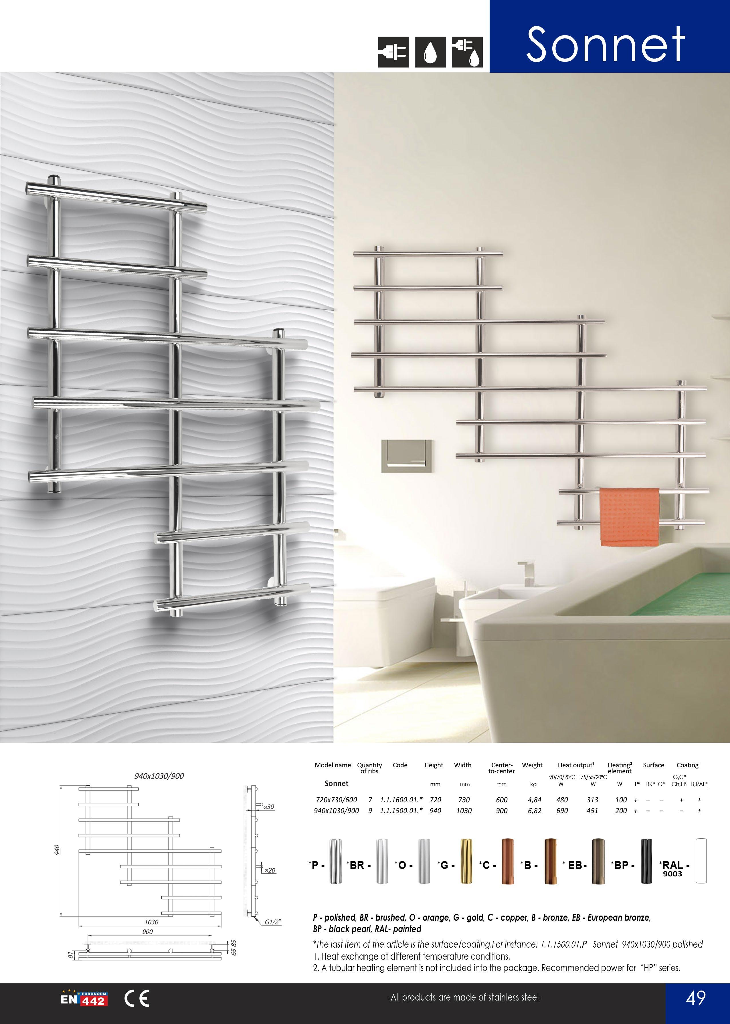 catalog pagina 51 calorifere din inox portprosoape baie. Black Bedroom Furniture Sets. Home Design Ideas
